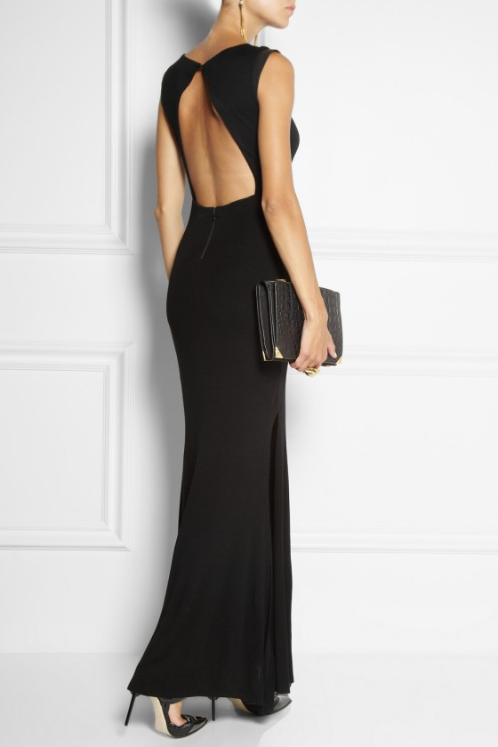 10. ALICE + OLIVIA Joi leather-trimmed wool maxi dress £469