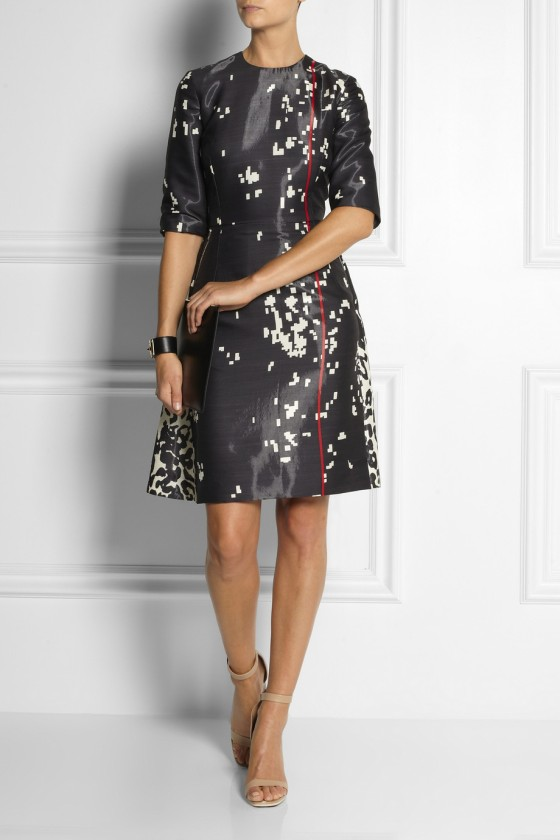 16. PREEN BY THORNTON BREGAZZI Atlantic printed sateen dress £1,548.75