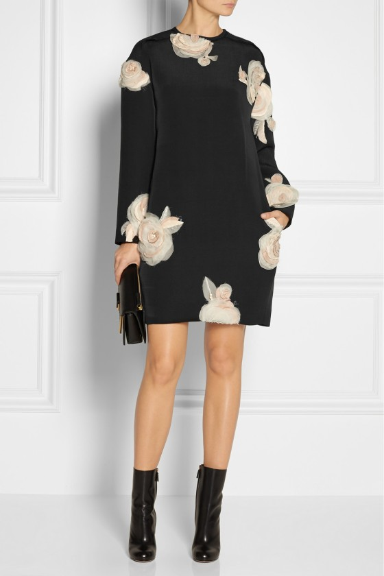 17. LANVIN Floral-appliquéd faille tunic dress £3,676