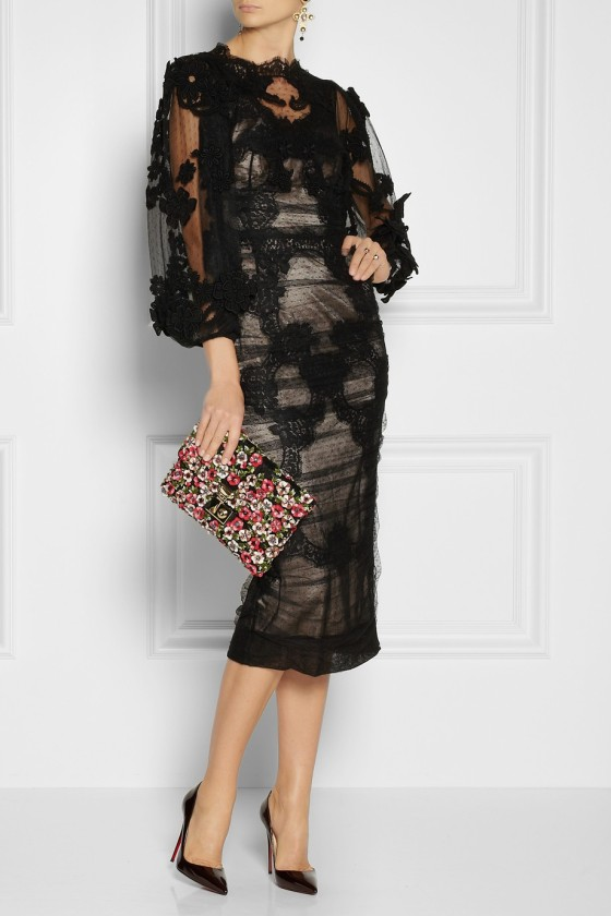 18. DOLCE & GABBANA Ruched lace and tulle dress £3,134.25
