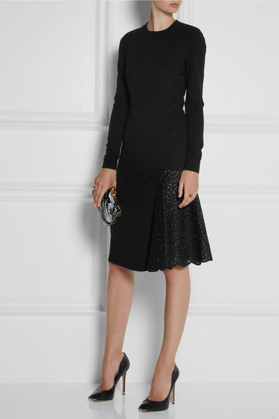 22. STELLA MCCARTNEY Lace-paneled stretch-jersey dress £765.63