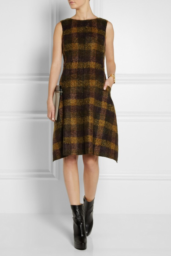 27. JIL SANDER Plaid mohair-blend dress £1,050