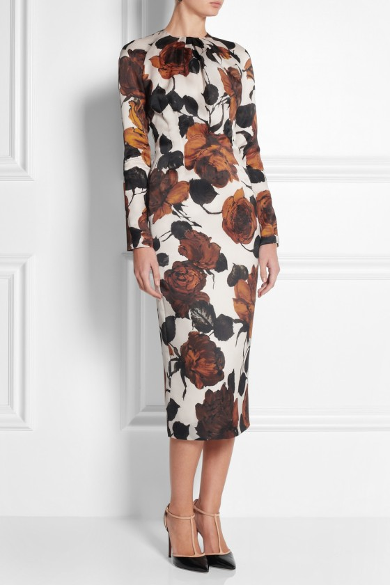 28. EMILIA WICKSTEAD Darcy printed silk-organza dress £962.50
