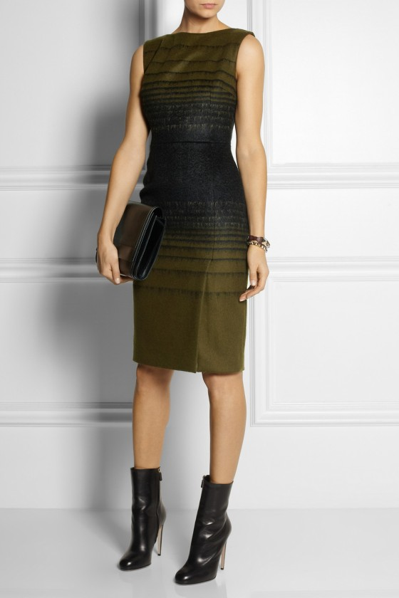 3.JONATHAN SAUNDERS Odette brushed wool-blend dress £914.37
