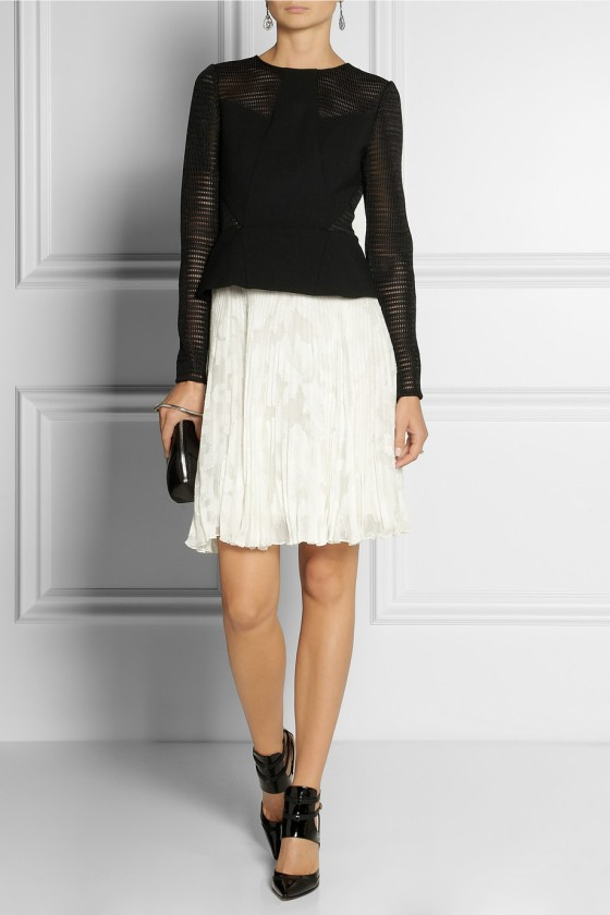 30. JASON WU Pleated wool-blend and chiffon peplum dress £2,765